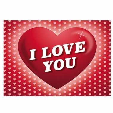 Valentijn romantische valentijnskaart i love you ansichtkaart met har