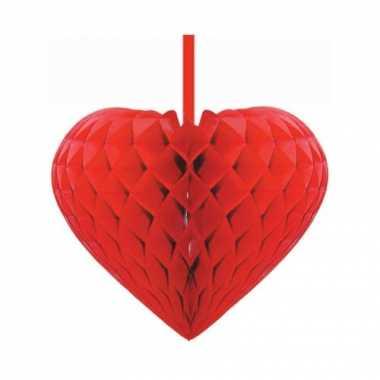 Valentijn rood decoratie hart 15 cm kado