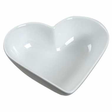 Valentijn schaaltje wit hart 13 cm kado