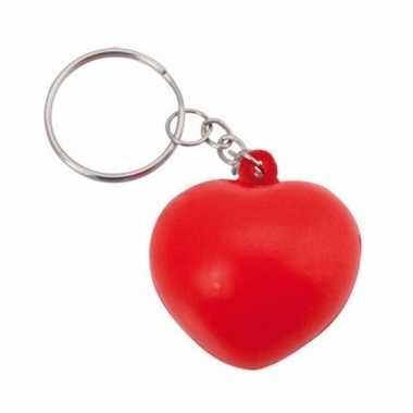 Valentijn stressbal sleutelhanger hartje 3,6 cm kado