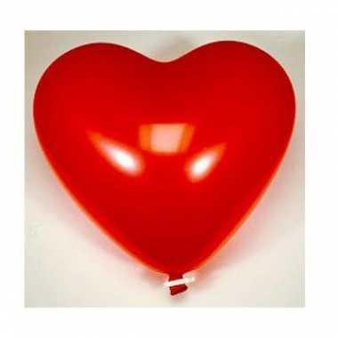 Valentijn super grote hartjesballon met sluitclip kado