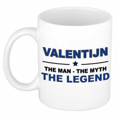 Valentijn the man, the myth the legend kado koffie mok / thee beker 3