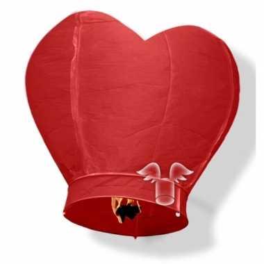 Valentijn wensballon rood hart 100 cm kado