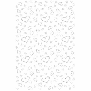 Valentijn witte loper met hartjes 4,5 x 60 cm kado