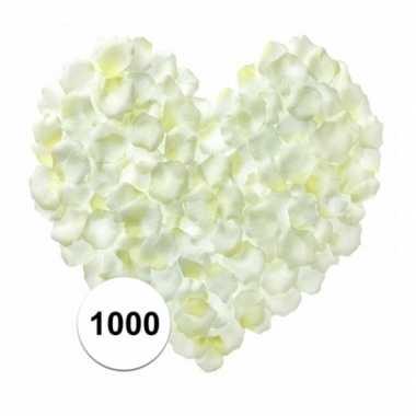 Valentijn witte rozenblaadjes 1000 stuks kado