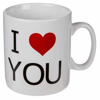 Valentijn xl koffiebeker i love you 700 ml kado