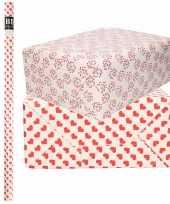 6x rollen kraft inpakpapier liefde valentijn hartjes pakket harten design 200 x 70 cm kado