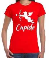 Cupido liefde valentijn verkleed t shirt rood voor dames kado