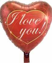 Folie ballon i love you hart 43 cm met helium gevuld kado