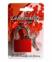 Rood liefdesslot 3 8 cm kado