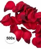 Valentijn 500x rode strooi rozenblaadjes 3 cm kado