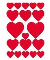 Valentijn 57x hartjes love stickers kado