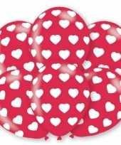 Valentijn ballonnen met hartjes motief 6 stuks kado
