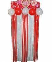 Valentijn deurgordijn met hartjes kado