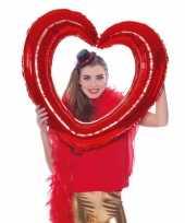 Valentijn folie foto frame hart rood 80 x 70 cm kado