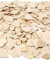 Valentijn houten mozaiek hartjes 60 stuks kado