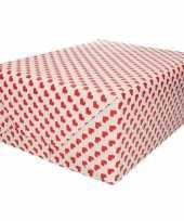 Valentijn inpakpapier kadopapier rood hart print 200 x 70 cm