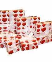 Valentijn kado doosje hartjes print 16 cm