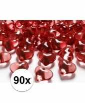 Valentijn rode decoratie hartjes diamantjes 90 stuks kado