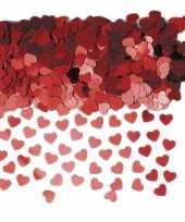 Valentijn rode hartjes confetti 6 zakjes kado