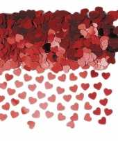 Valentijn rode hartjes confetti kado