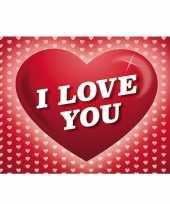 Valentijn romantische valentijnskaart i love you ansichtkaart met hartjes kado