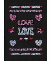 Valentijn stickers love met strass steentjes kado