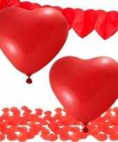Valentijn versiering pakket rood kado