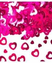 Valentijn zilveren confetti open hartjes kado